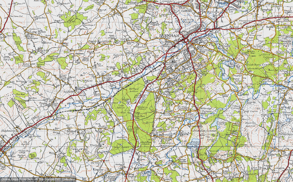 Old Map of Holt Pound, 1940 in 1940