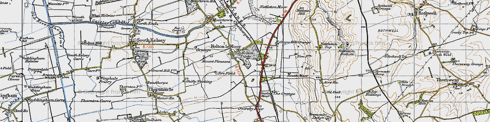 Old map of Yewfield in 1947