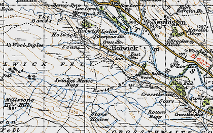 Old map of Wynch Br in 1947