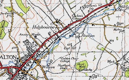 Old map of Holybourne in 1940