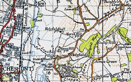 Old map of Langridge in 1946