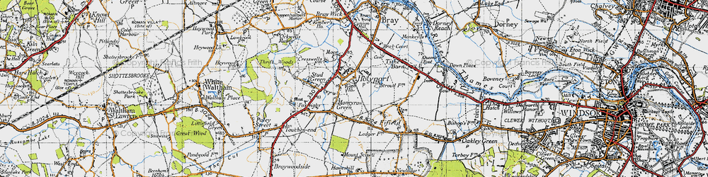 Old map of Holyport in 1945