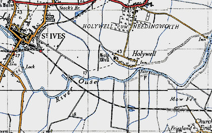 Old map of Holywell in 1946