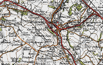 Old map of Holywell in 1947