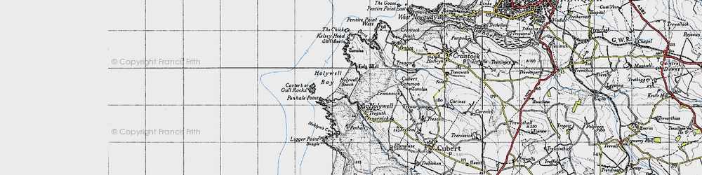Old map of Lewannick in 1946