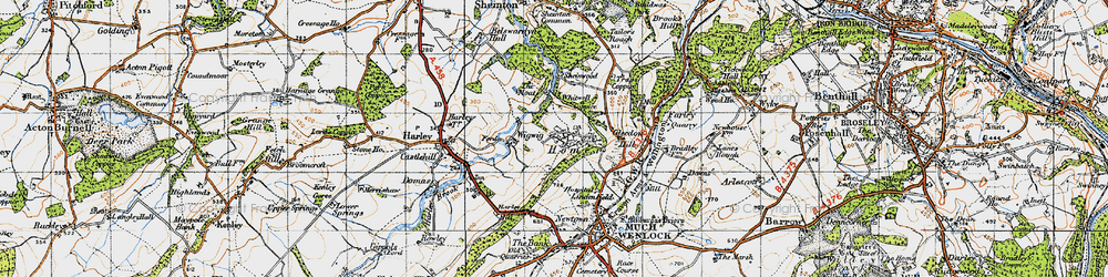 Old map of Wigwig in 1947