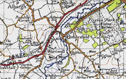 Old map of Homersfield in 1946