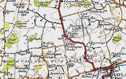 Old map of Arger Fen in 1946