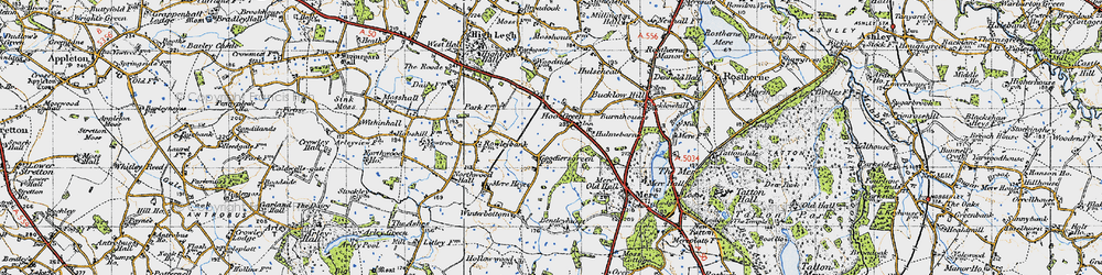 Old map of Winterbottom in 1947