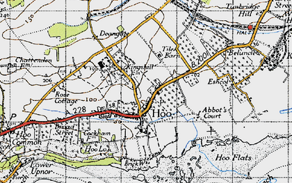 Old map of Abbots Court in 1946