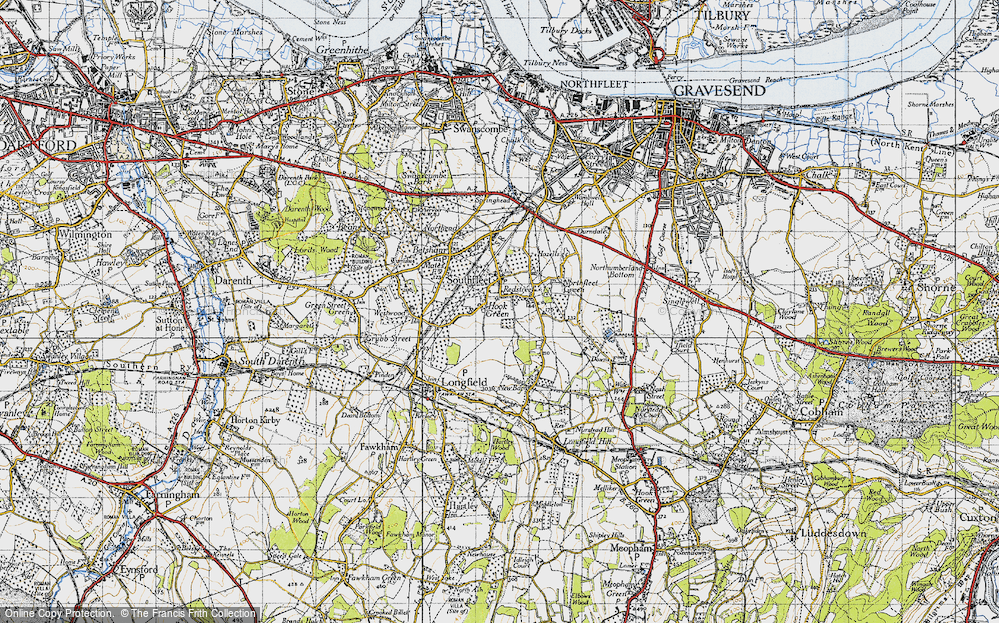 Old Map of Hook Green, 1946 in 1946