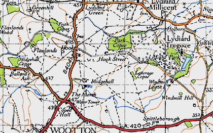 Old map of Letterage Copse in 1947
