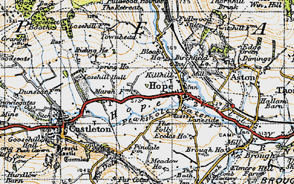 Old map of Hope in 1947