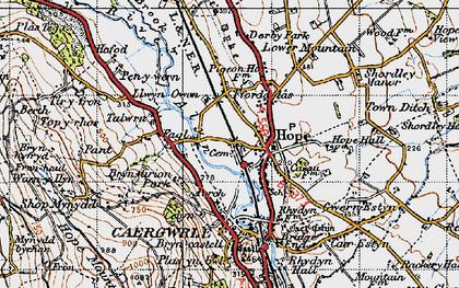 Old map of Tir-y-fron in 1947