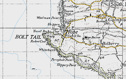 Old map of Whitechurch in 1946