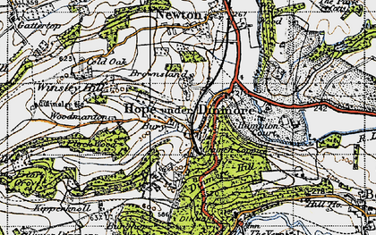 Old map of Winsley Hill in 1947