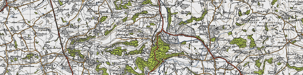 Old map of Woodmanton in 1947