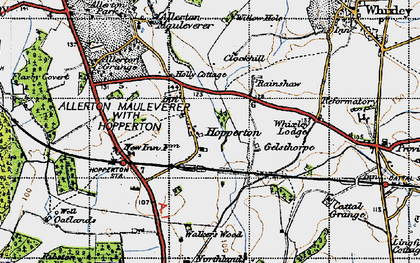 Old map of Whixley Lodge in 1947