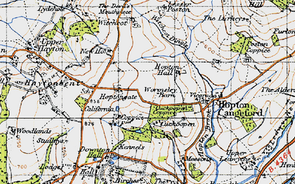 Old map of Witchcot in 1947