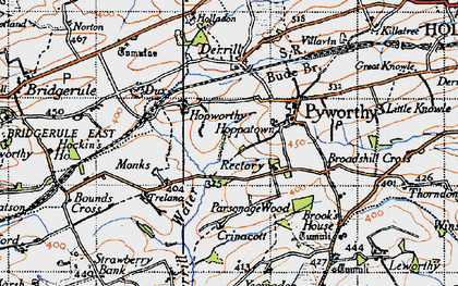 Old map of Worthen in 1946
