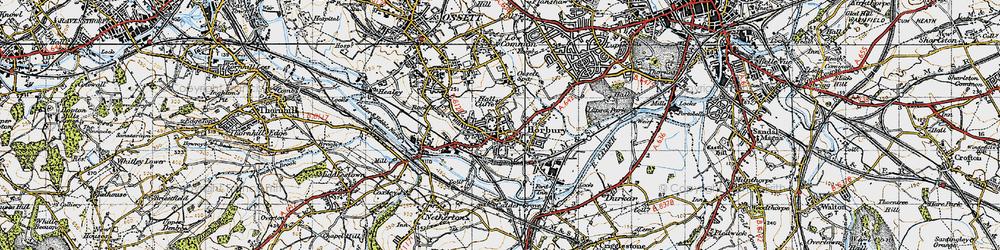 Old map of Horbury in 1947