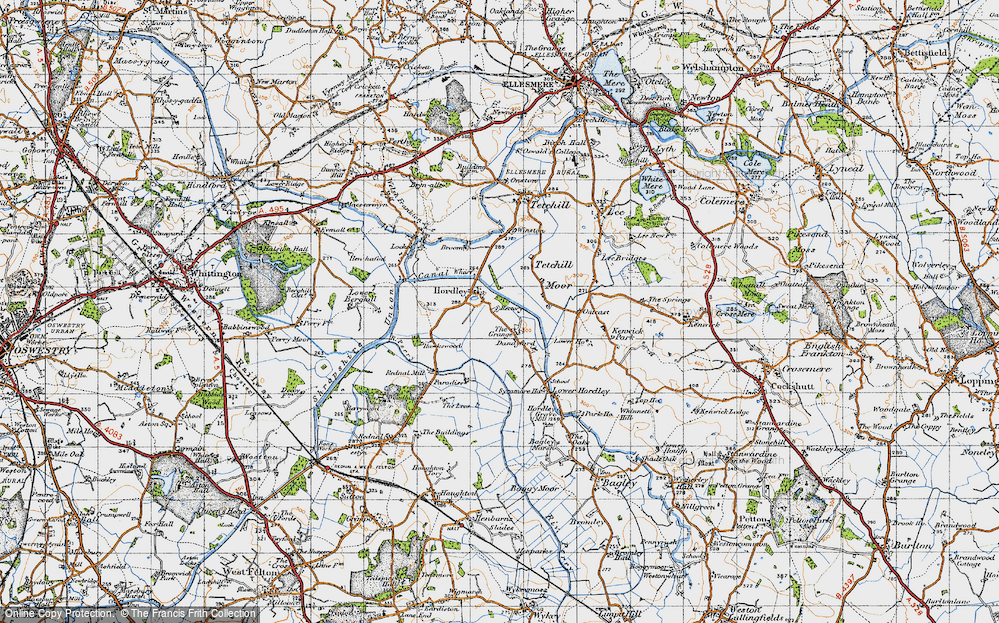 Old Map of Hordley, 1947 in 1947