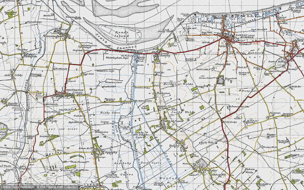 Old Map of Horkstow, 1947 in 1947
