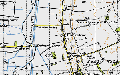 Old map of Winterton Carrs in 1947