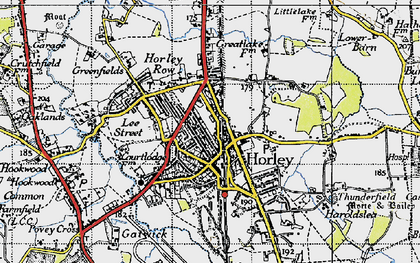 Old map of Horley in 1940