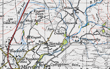 Old map of Lane End in 1946