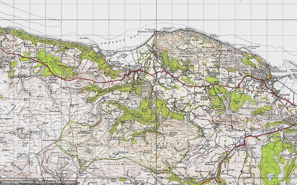 Old Map of Horner, 1946 in 1946