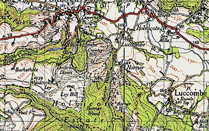 Old map of Ley Hill in 1946