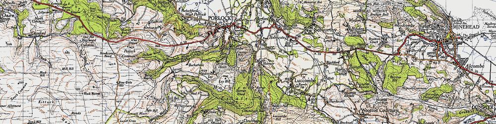Old map of Horner in 1946