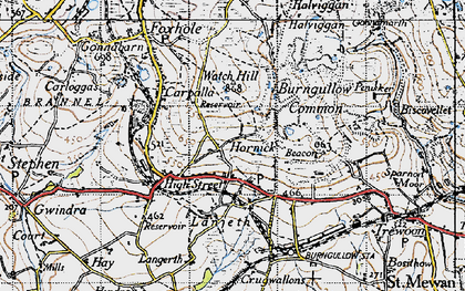 Old map of Hornick in 1946