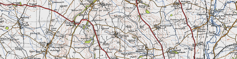 Old map of Bush Hill in 1946