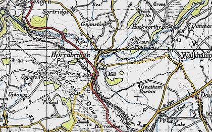 Old map of Horrabridge in 1946