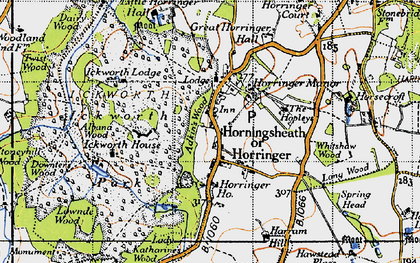 Old map of Albana Wood in 1946