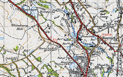 Old map of Whimberry Hill in 1947