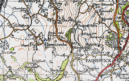 Old map of Bacchus in 1946