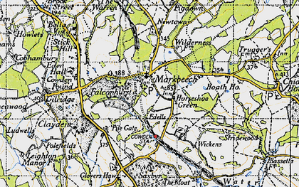 Old map of Wickens in 1946