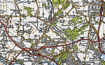 Old map of Horsforth in 1947