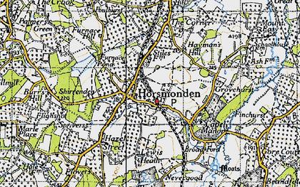 Old map of Horsmonden in 1940