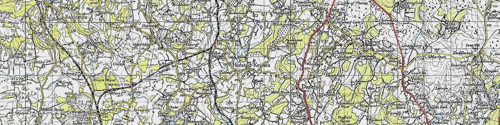 Old map of Wyatts in 1940