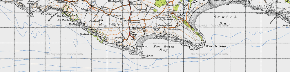 Old map of Horton in 1946