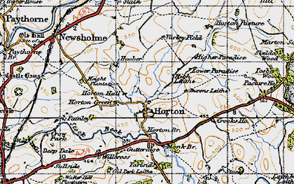 Old map of Willcross in 1947