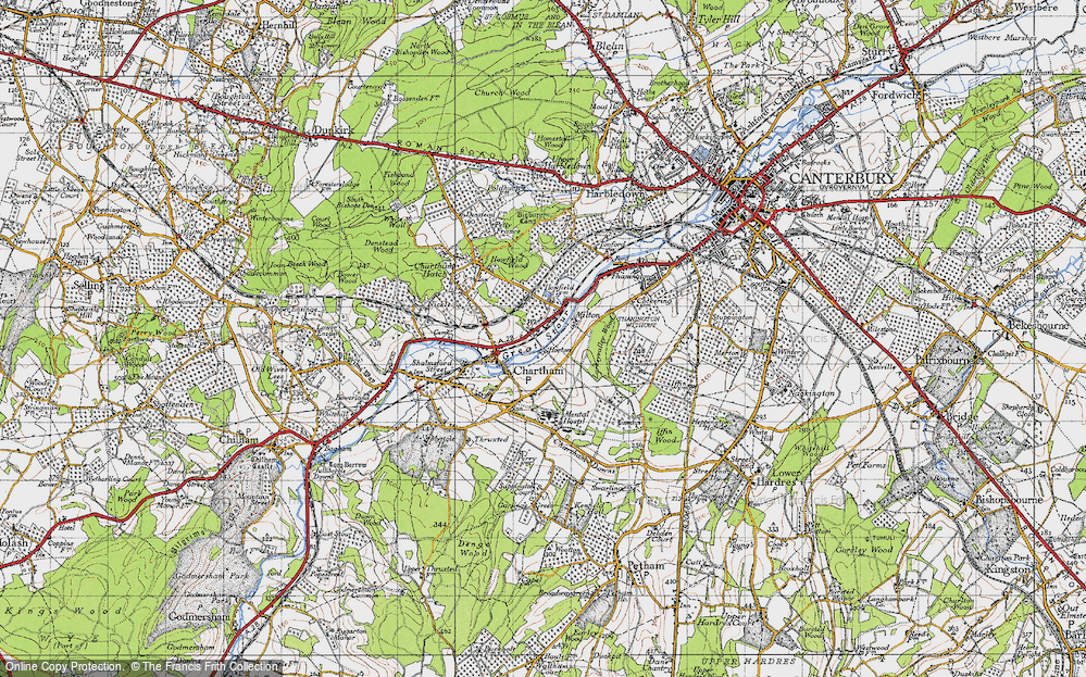 Old Map of Historic Map covering Larkey Valley Wood in 1947