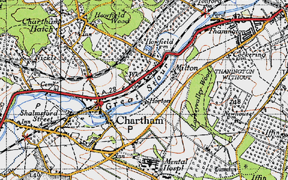 Old map of Larkey Valley Wood in 1947