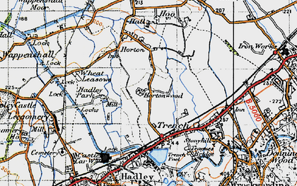 Old map of Wheat Leasows in 1947