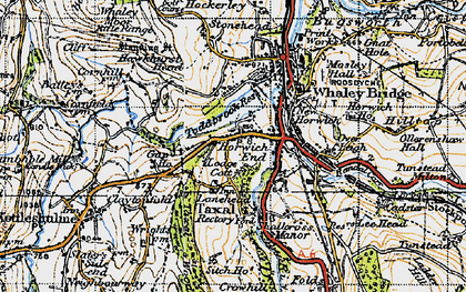 Old map of Horwich End in 1947