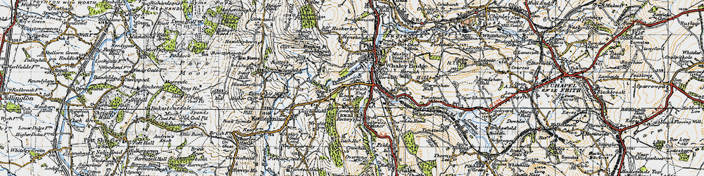 Old map of Whaley Moor in 1947